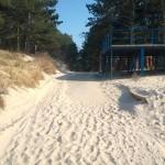 Domki Letniskowe  Kotwica Dąbki  Zejscie z plaża