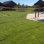 Domki letniskowe Kotwica Dąbki plac zabaw dla boisko do babingtona